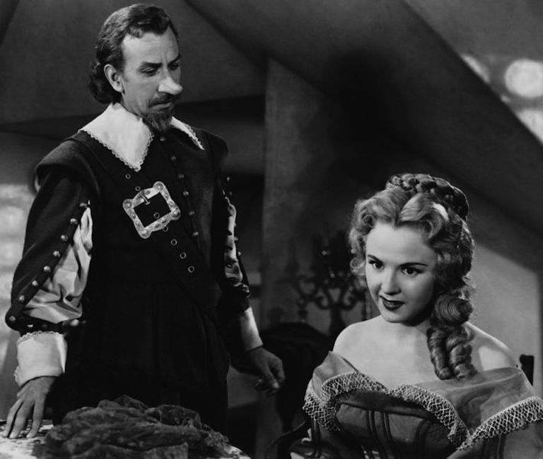 José Ferrer & Mala Powers in Cyrano de Bergerac - cropped screenshot