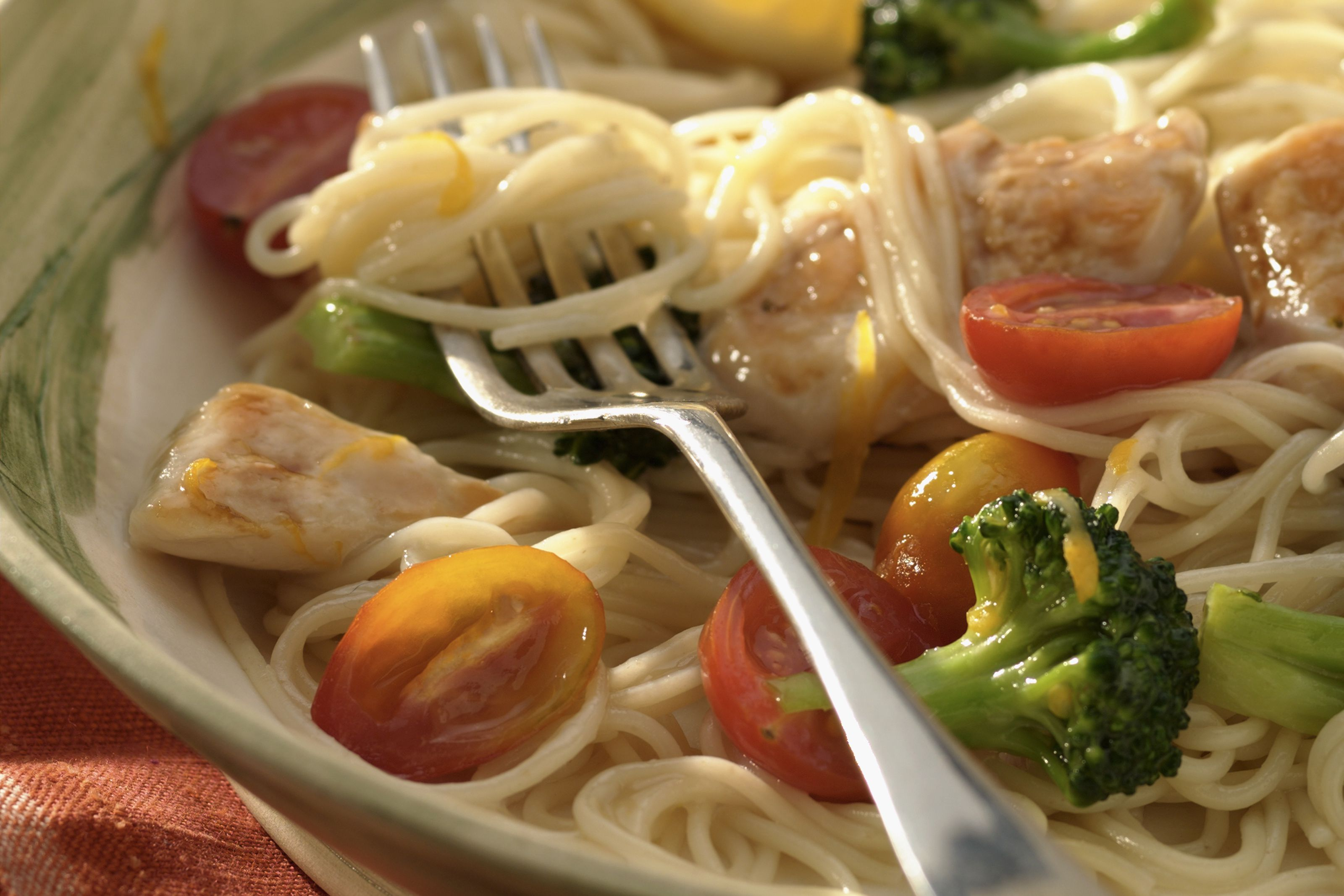 30 easy chicken and pasta recipes light and easy chicken and angel hair pasta with broccoli and garlic forumfinder Image collections