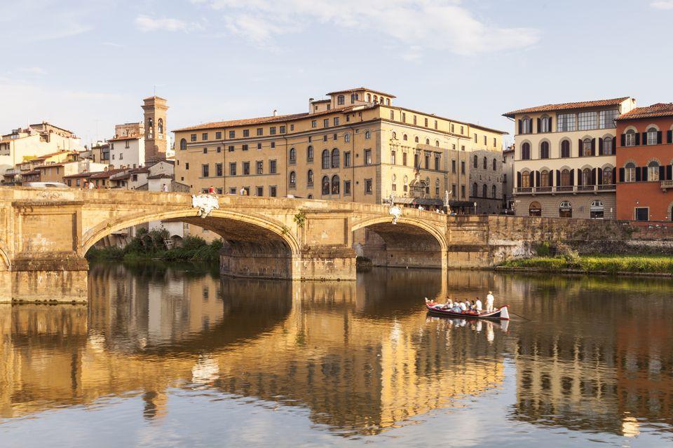 Ponte Santa Trinita and the river Arno, Florence