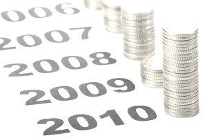 Interest income per year.