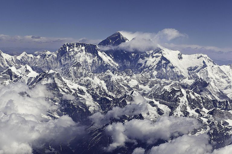 Aerial view of Mt. Everest
