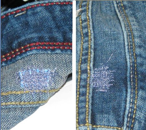 how to put a pretty patch on jeans