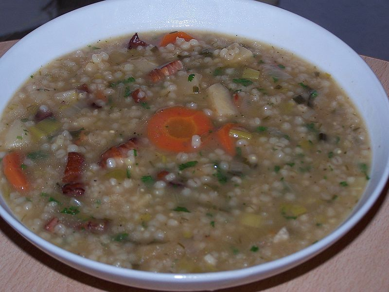 Barley Soup - Graupensuppe Eintopf
