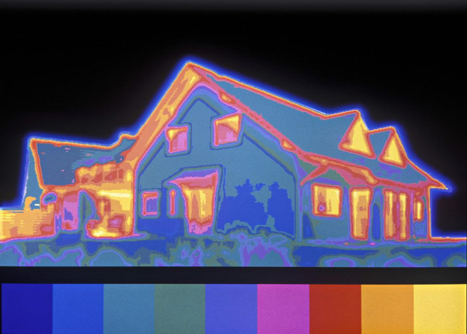 infrared thermography of a home