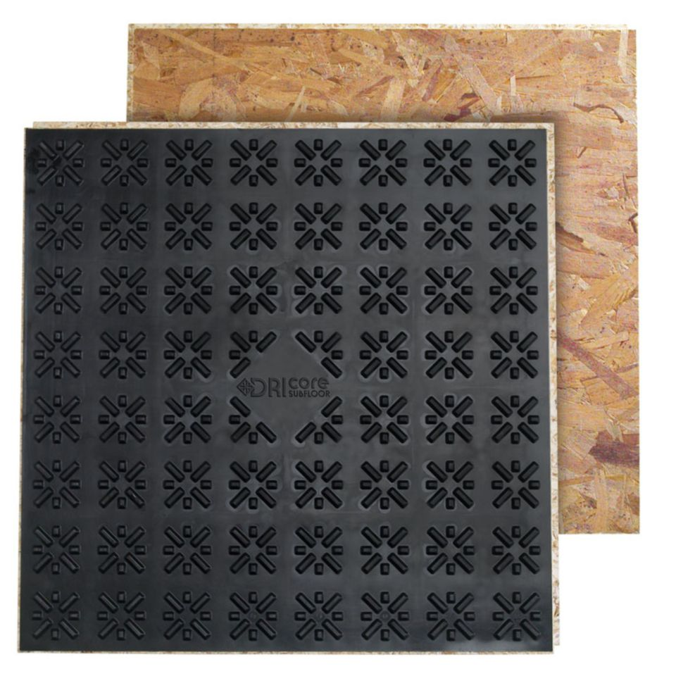Prefab subfloor tiles make basement flooring easier dricore subfloor tiles 1500 x 1500 dailygadgetfo Gallery