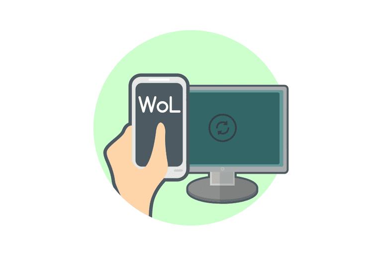 Illustration of Wake-on-LAN