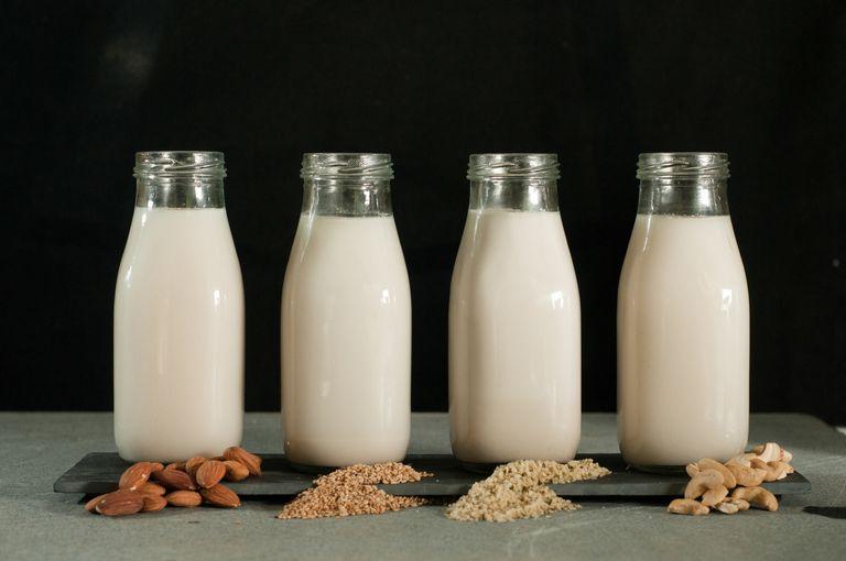different types of nut milk