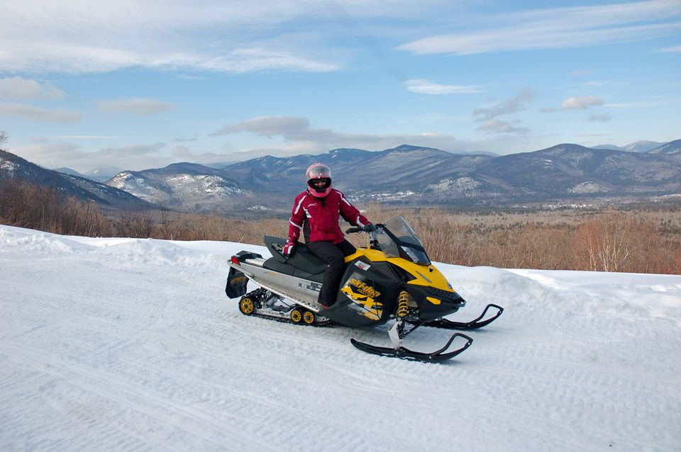 Snowmobiling in the White Mountains