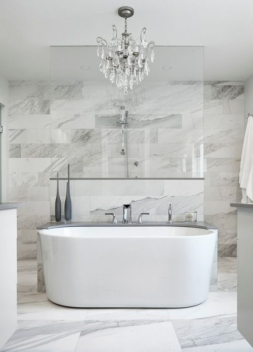 all over marble tile bathroom - White Marble Tile Bathroom