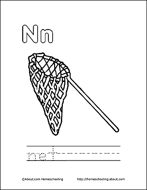 Letter N Coloring Book Free Printable Pages N Coloring Pages