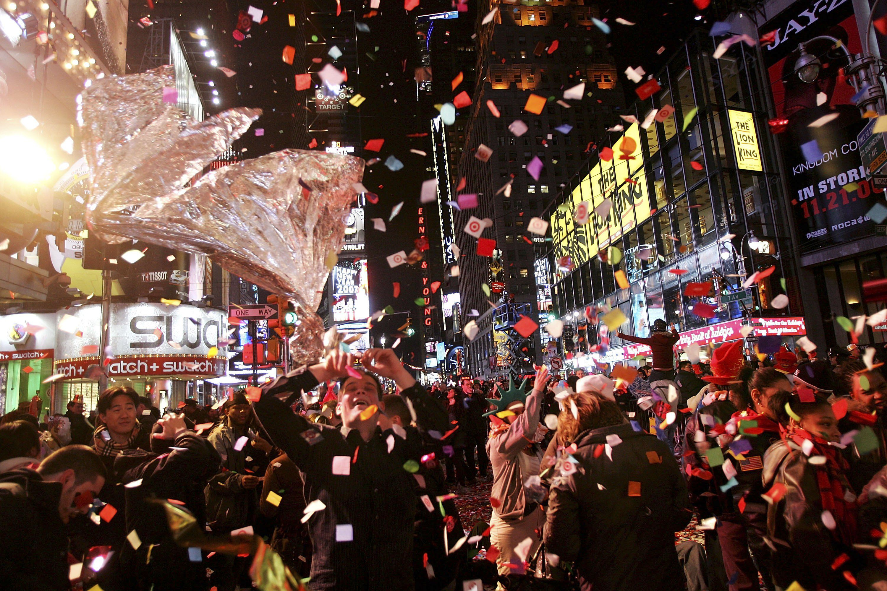 Revelers Descend on Times Square For New Years Eve. Events