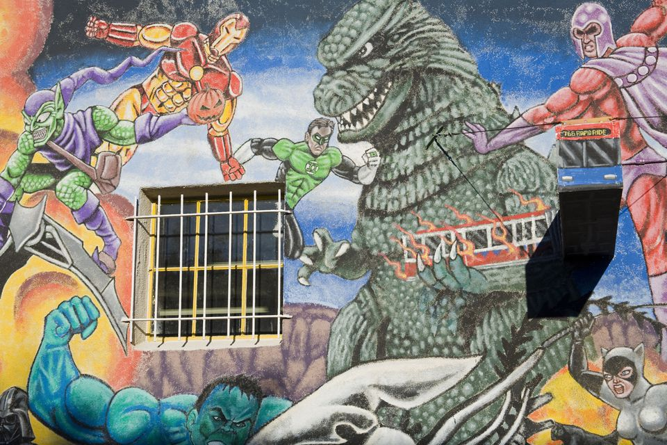 All about the albuquerque comic convention for Comic book mural