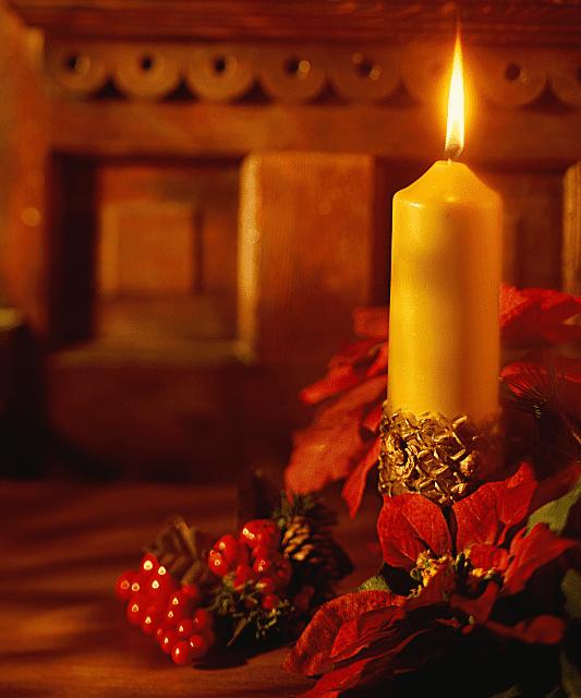 Christmas candle music