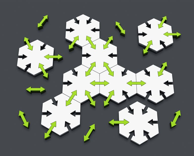 Connected hexagons