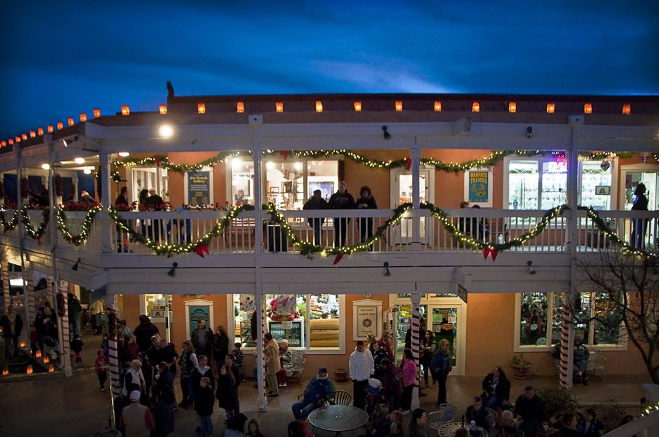 Christmas in New Mexico, luminaries and adobe.