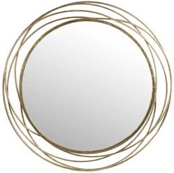 Karinthia Iron Round Wall Accent Mirror