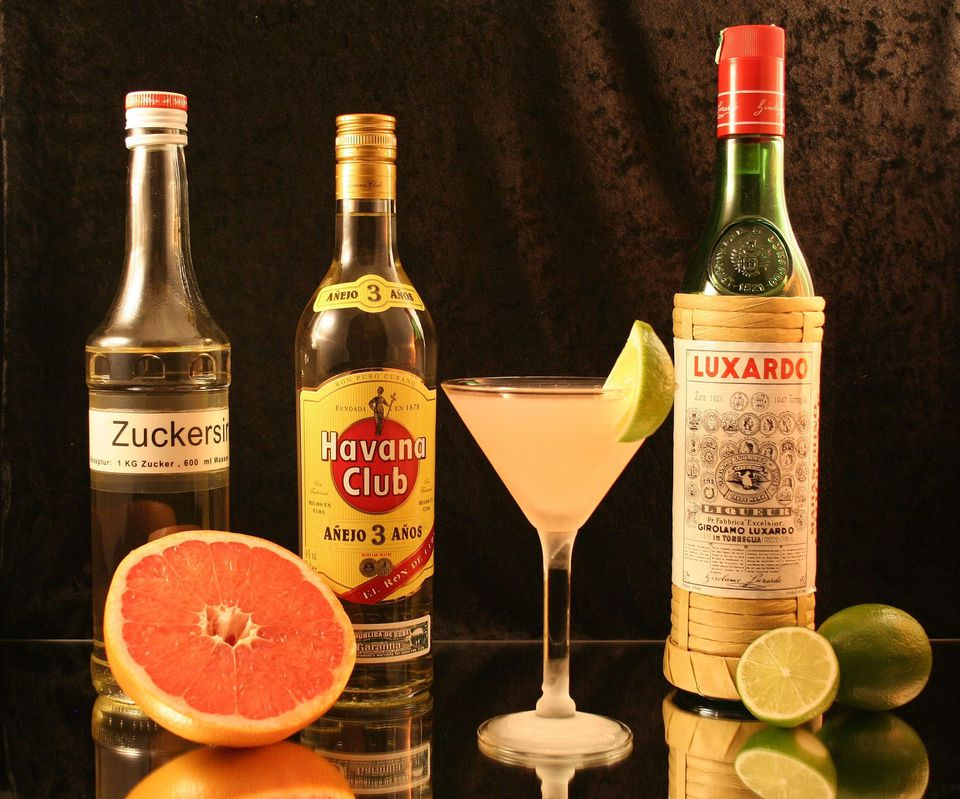 Hemingway Daiquiri, which contains Maraschino liqueur