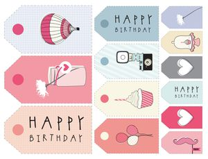 11 sets of free printable gift tags for anytime of year the pretty blogs printable gift tags for birthdays negle Gallery