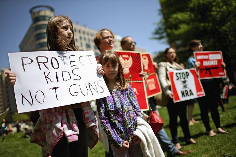 Gun control protest