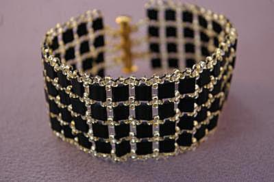 Fancy Tile Bead Bracelet Pattern