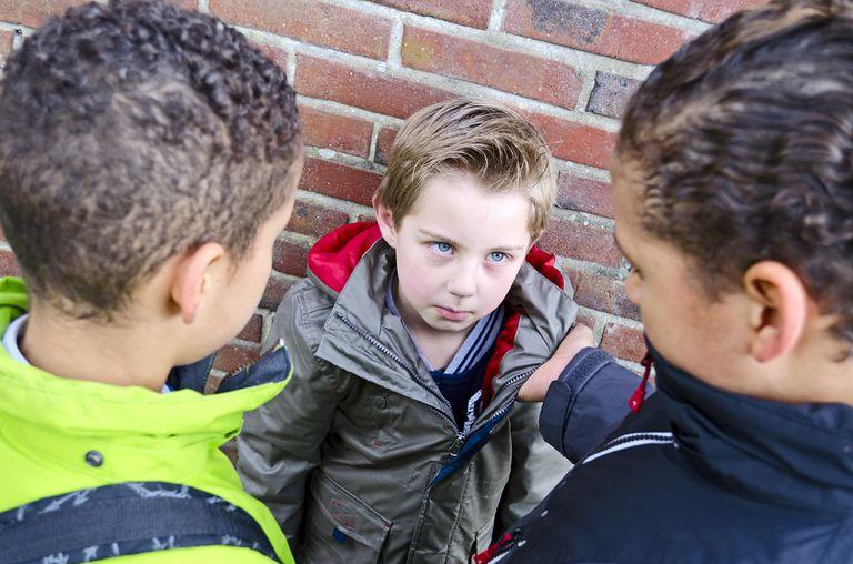 boy physically bullying