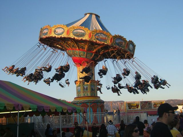 Swinging Ride at New Mexico State Fair