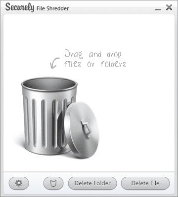 Screenshot of Securely File Shredder v2.0
