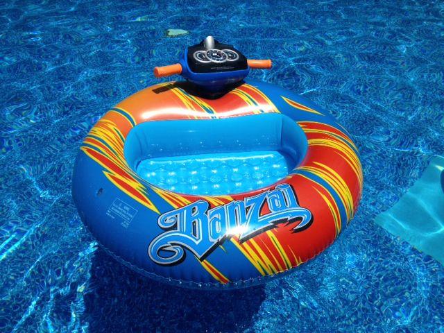 Banzai Bumper Boat Motorized Pool Toy