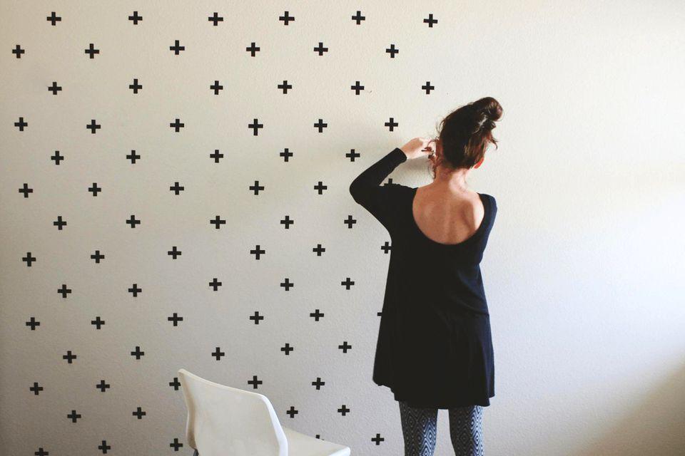 washi tape wall decor