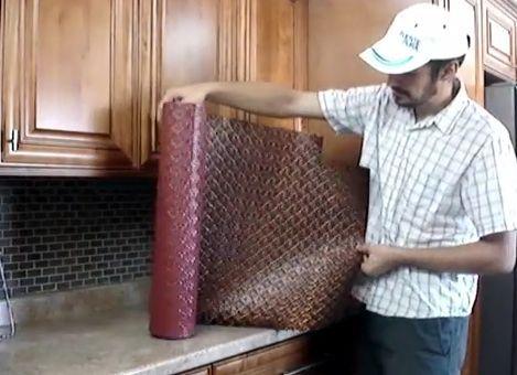 Faux Metal Backsplash Rolls