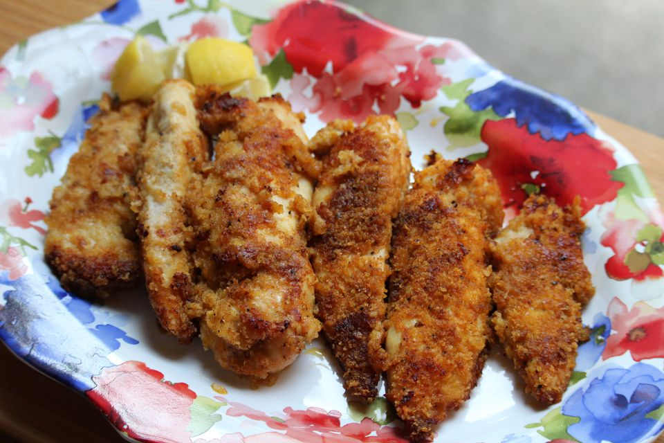 Oven Fried Breaded Chicken