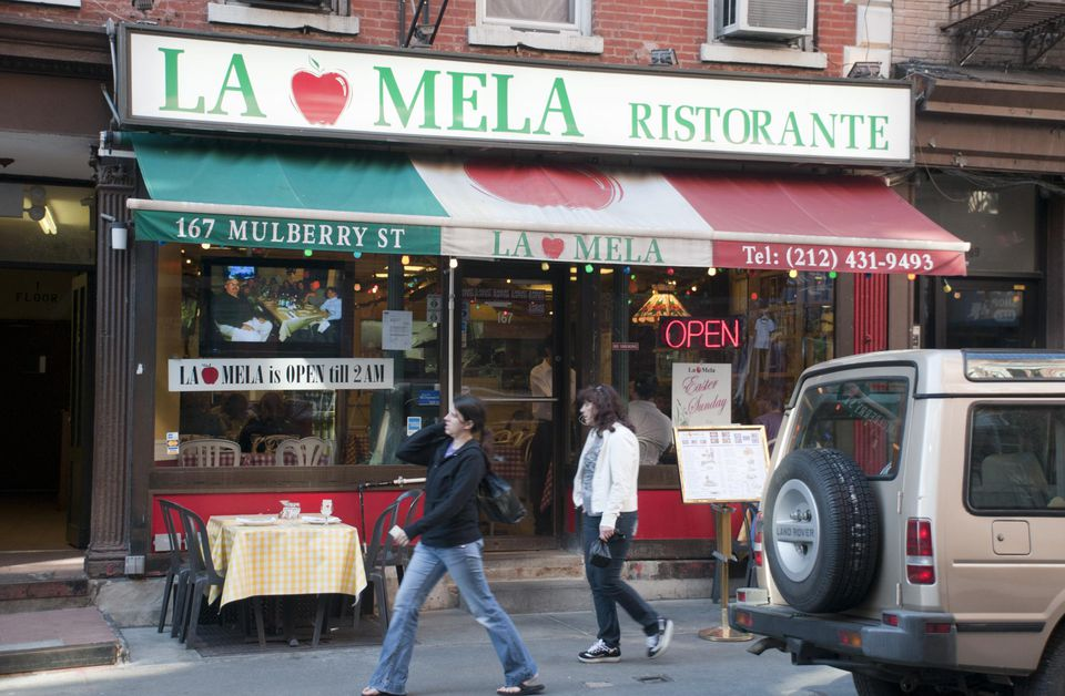 La Mela restaurant on Mulberry Street, Little Italy