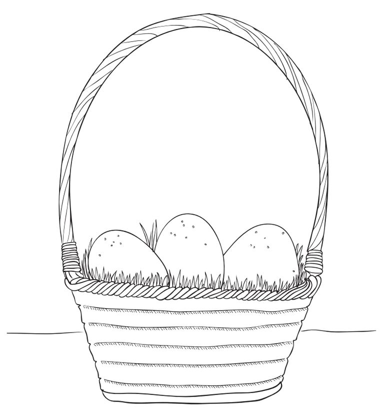 Free Easter Coloring Pages At Make And Takes An Basket