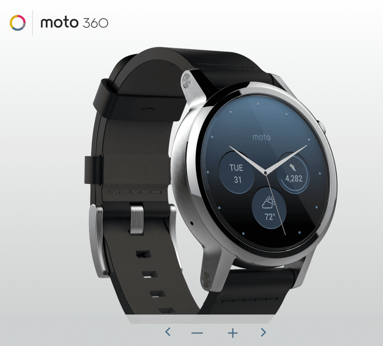 Moto 360 face zoomed