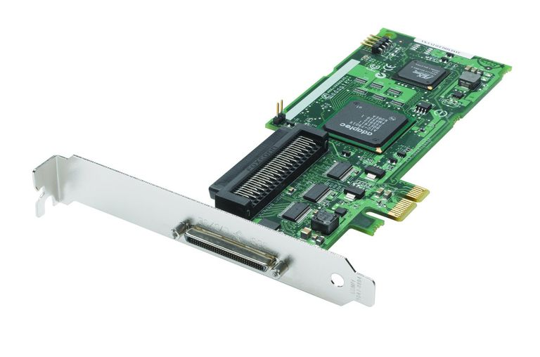 Photo of an Adaptec 2248700-R U320 PCI Express X1 1-Channel SCSI Host Bus Adapter