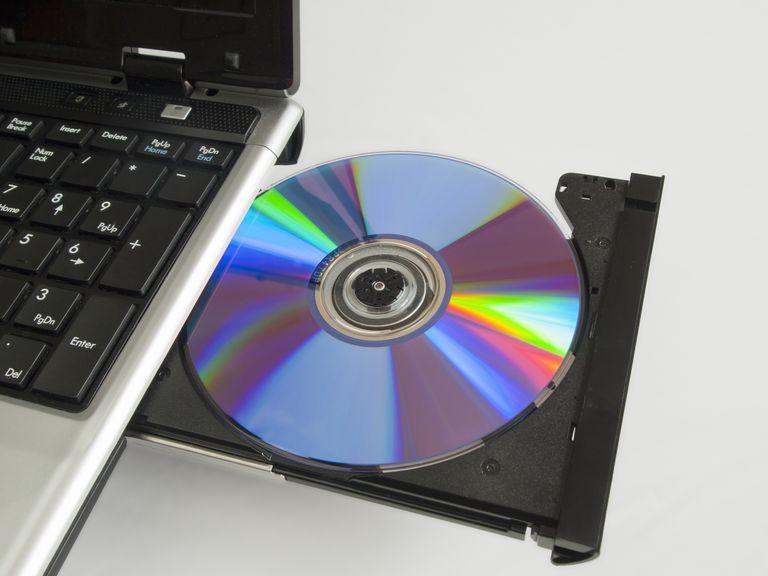 CD rom on computer
