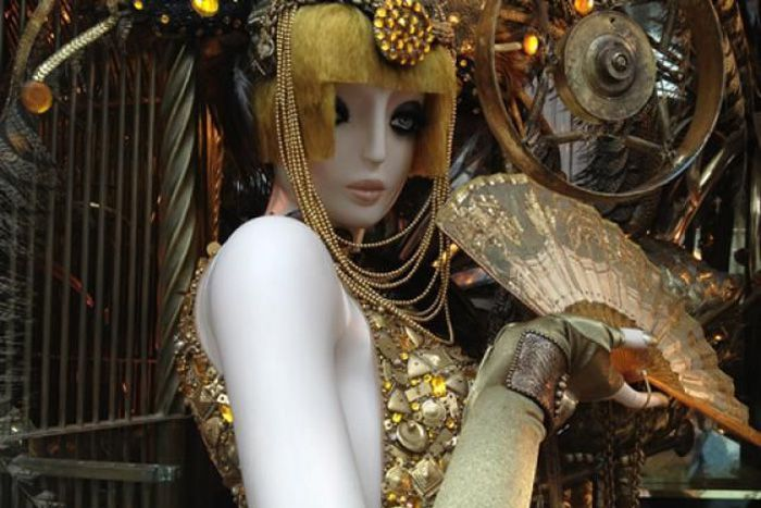 World of Animals Holiday Window Decorations at Bergdorf Goodman