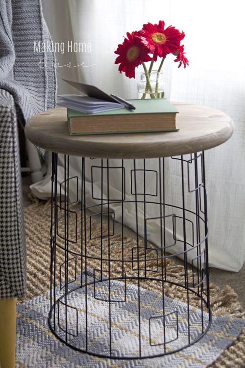 Plastic Patio End Table
