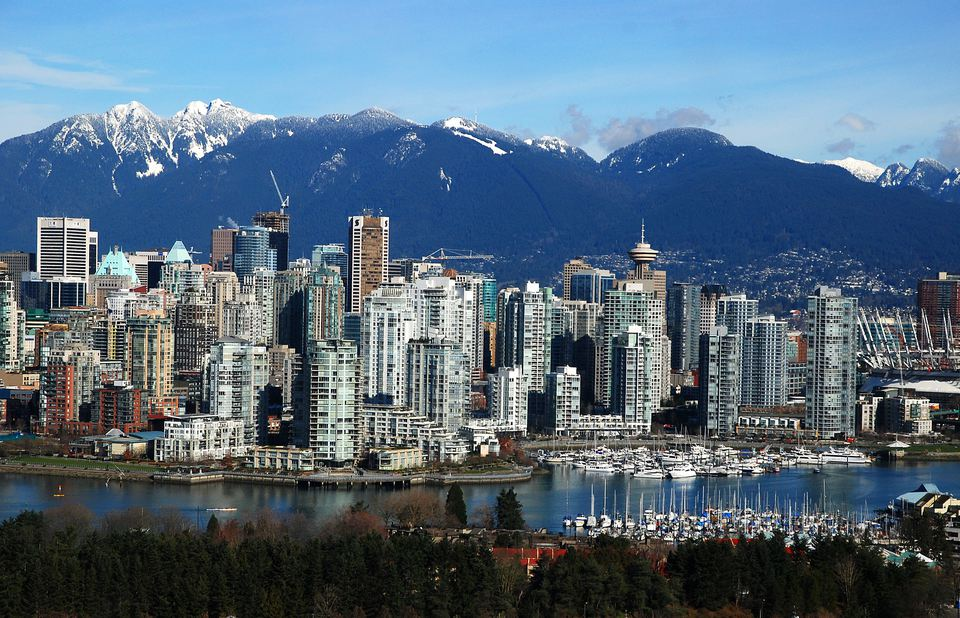 Vancouver skyline with mountains