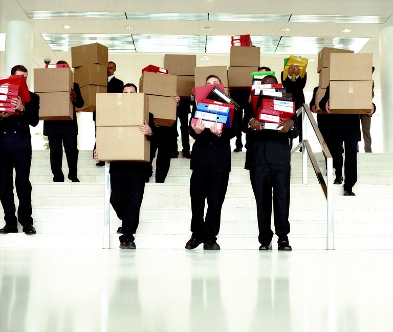 bureaucrats with boxes