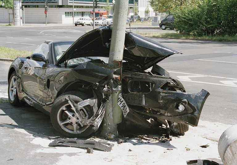 Major physical damage to a car.