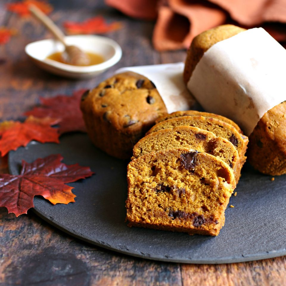 Chocolate Chip Honey Pumpkin Bread