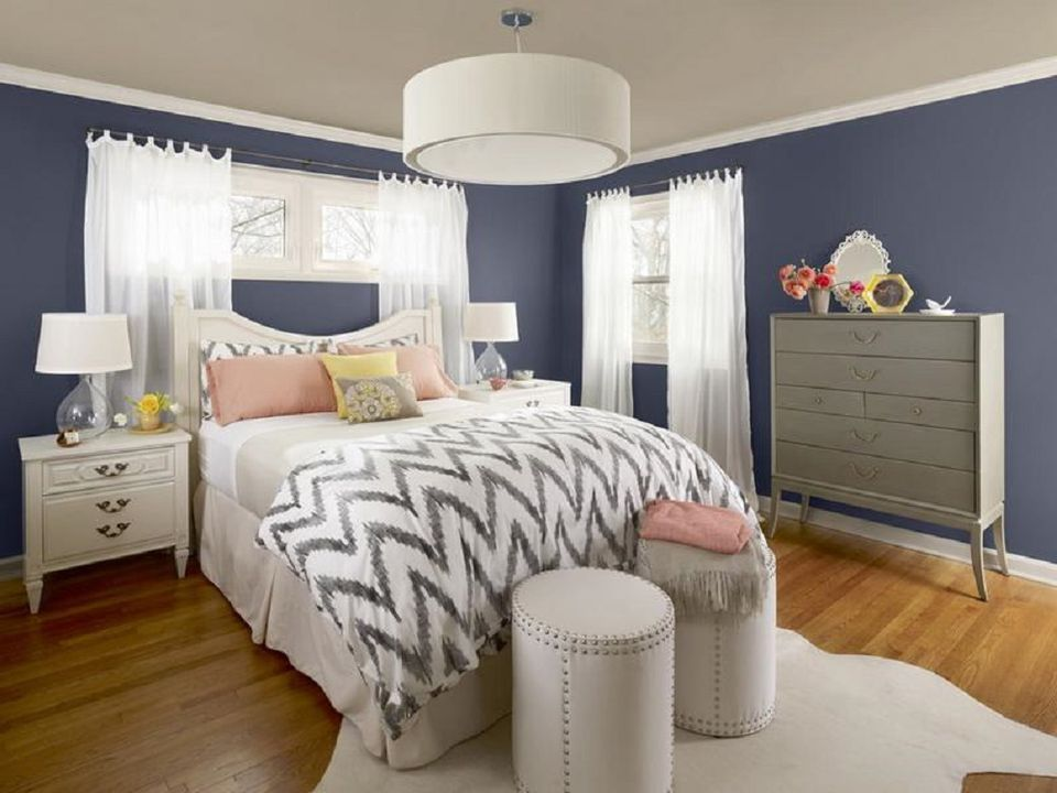 Dark but Restful Walls. Peaceful Bedroom Colors and Decorating Ideas