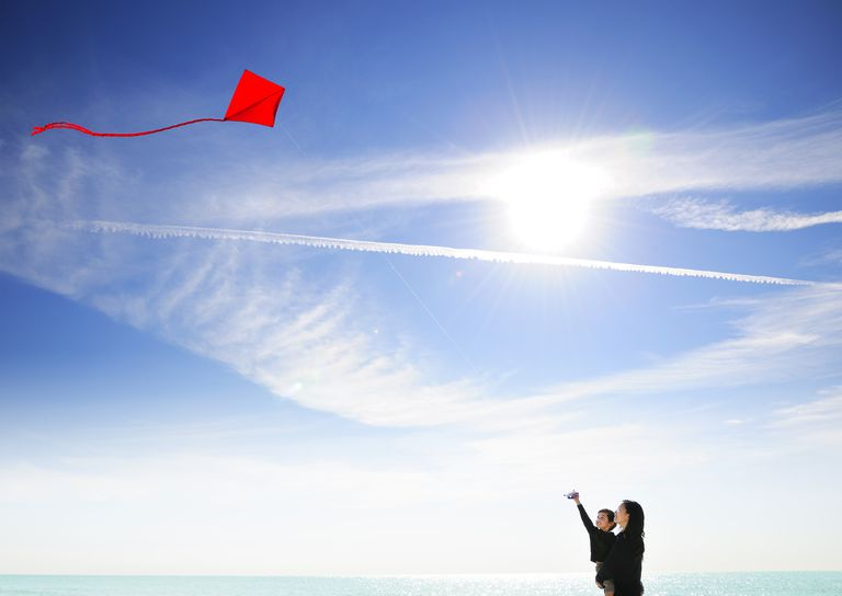 The matter in air (gases) supports the weight of kites and planes, allowing them to fly in the sky.