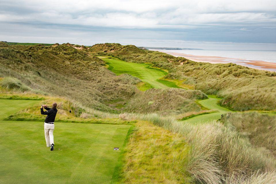 Golf course in Scotland