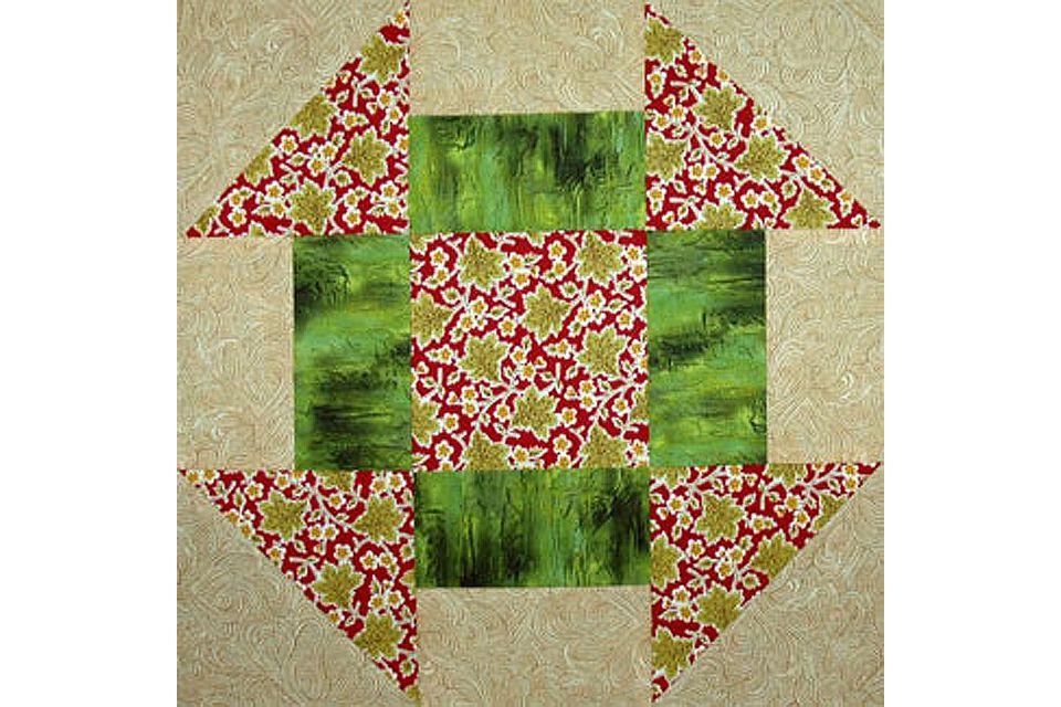 Churn Dash Quilt Block Pattern
