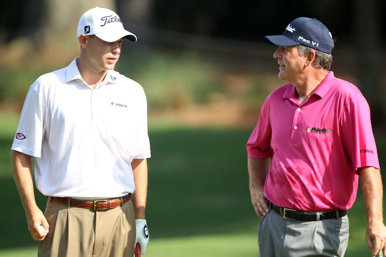 Bill Haas and Jay Haas, father-son winners on the PGA Tour