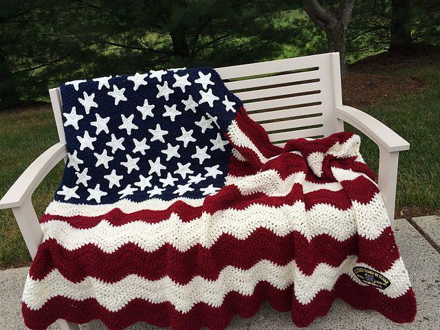 Crochet American Flag Free Patterns : crochet quilt pattern - Adamdwight.com