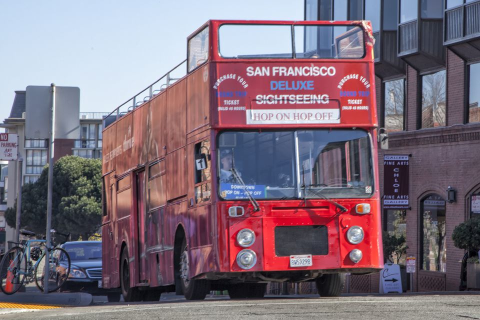 Double-Decker San Francisco Sightseeing Bus