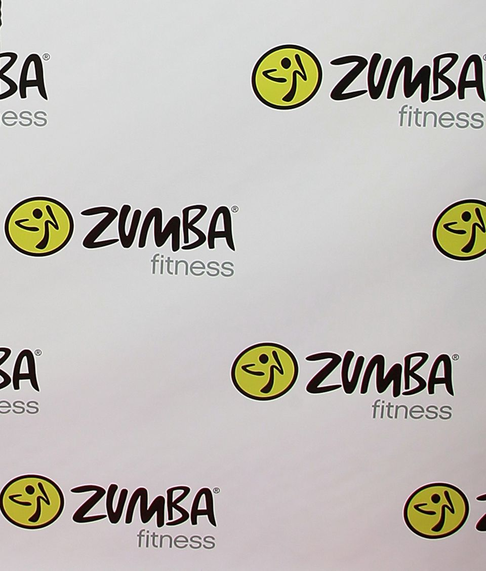 A picture of the Zumba fitness logo